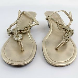 Lilly Pulitzer Gold Sandals Size 7M